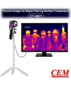 DT-980Y CEM กล้องถ่ายภาพความร้อนสําหรับวัดไข้ Thermal Imager Human body Temperature
