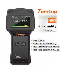 เครื่องวัดฝุ่น PM2.5/PM10/AQI/อุณหภูมิ/ความชื้น รุ่น Temtop Airing-1000