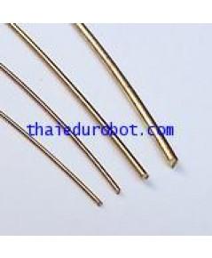 34114 ลวดทองเหลือง ชนิดแข็ง เส้นผ่าศูนย์กลาง 2.0 mm ยาว 5 เมตร
