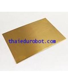 6703 แผ่นทองเหลือง ผิวเรียบ แข็ง เงา หนา 0.6 mm ขนาด 12 นิ้ว x 41 cm