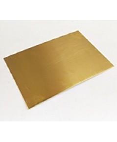 6700 แผ่นทองเหลือง ผิวเรียบ แข็ง เงา หนา 0.25 mm ขนาด 12 นิ้ว x 41 cm