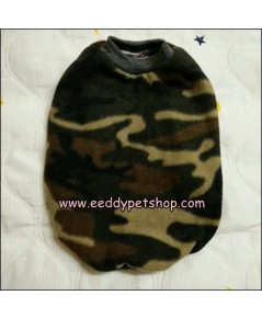เสื้อยืดหมาผ้าสำลี เสื้อสุนัขผ้าสำลี ลายทหาร เบอร์ 4