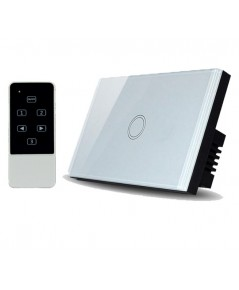 Real Switch Touch 1 gang with remote control (White)