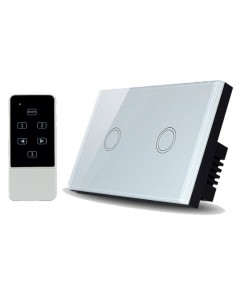 Real Switch Touch 2 gang with remote control (White)