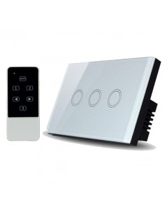 Real Switch Touch 3 gang with remote control (White)