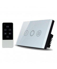 Real Switch Touch Timer with remote control (White)