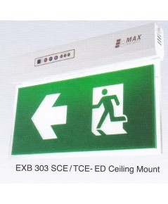 ป้ายทางออกทางหนีไฟฉุกเฉินสองหน้าแบบแขวนลอยหลอด LED รุ่น EXB 303TCE-ED ยี่ห้อMaxbright