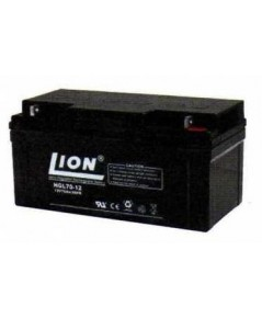 แบตเตอรี่แห้งชนิดตะกั่วกรด ขนาด 12V-70Ah ยี่ห้อ Lion