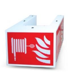 ป้ายกล่องไฟฉุกเฉิินหลอด LED สามหน้า สำรองไฟ 2 ชม. รุ่น FHB-133ED ยี่ห้อ Maxbright