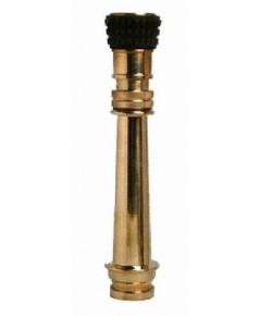 หัวฉีดน้ำดับเพลิงแบบปรับฝอย 2.5 นิ้วพร้อมด้ามยาว 15 นิ้ววัสดุทองเหลืองชนิดสวมเร็ว