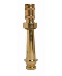 หัวฉีดน้ำดับเพลิงแบบปรับฝอย 1.5 นิ้วพร้อมด้ามยาว 10 นิ้ววัสดุทองเหลืองชนิดสวมเร็ว