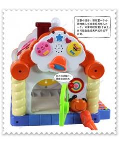 บ้านกิจกรรม Funny Toy House มีบล็อคหยอด และเสียงดนตรี