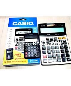 เครื่องคิดเลข casio รุ่น DJ-220D แถมเครื่องคิดเลขเล็กในกล่อง
