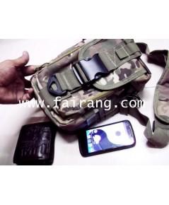 กระเป๋าเป้เล็กลายพราง ผ้าแบบเดียวกับเป้ทหาร หนา ทนทานรูปทรงสวยงาม มีผ้าร่มกันน้ำข้างใน