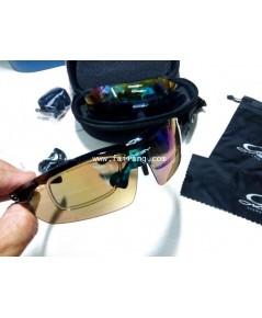 แว่นตากันแดดทรงสปอร์ทเปลี่ยนเลนซฺ์ได้ ขี่จักรยาน และเล่นกีฬา