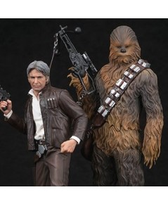 1/10 ARTFX+ Han Solo  Chewbacca 2Pack Force Awakens Version