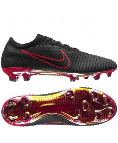 Nike Mercurial Ultra Flyknit Vapor FG Play Fire - Black/Red LIMITED EDITION 7.5UK