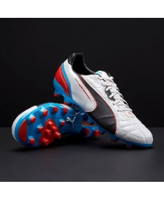 Puma King Spirit MG White/ฺBlack/Blue/Red