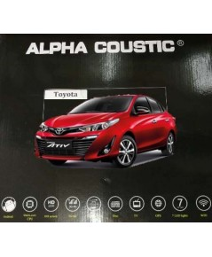 Alpha coustic  จอตรงรุ่นรถ Toyota Yaris Ativ ( Ram 2 GB/ Rom 32 / 8 Core )