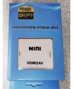 กล่องแปลงสัญญาณ HDMI ออกเป็น AV ( MINI HDMI To AV Converter )