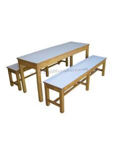 ชุดโต๊ะโรงอาหาร