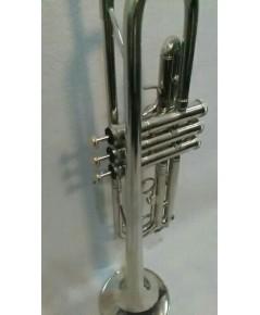 ทรัมเปท บีแฟลต Wisdom GE003 สีเงิน (Silver)  กล่องและอุปกรณ์ครบชุด