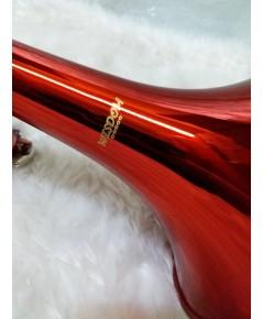 ทรัมเปท บีแฟลต Wisdom FTR-100RD สีแดง  กล่องและอุปกรณ์ครบชุด