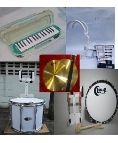 ขายเครื่องดนตรีวงโยธวาทิต ชุดยอดฮิต  วงใหญ่ ตัวท็อป  เมโลเดียน เบลไลล่า แสนร์ กลองใหญ่