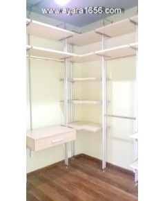 Walk in Closet Set A+B+C สี Maple