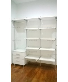 Walk in Closet - I Shape สีขาวด้าน
