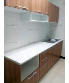 ชุดครัว Built-in Budget Kit 240A หน้าบาน Melamine สีคาปูชิโน่