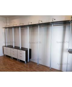 Walk In Closet - I Shape สี Oak + ขาว 2 ชุด