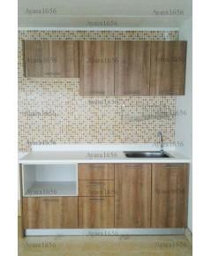 ชุดครัว Budget Kit ตู้ล่างใต้ Sink โครงซีเมนต์บอร์ด หน้าบาน Melamine สีคาปูชิโน่ - 180A ขนาด 1.80 เม
