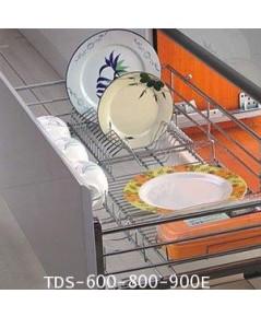 ตะแกรงอเนกประสงค์ ใส่จานชาม หน้าบานดึง 60, 80, 90 ซม. มีถาด (TDS-600E-800E-900E)