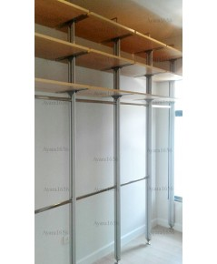 Walk In Closet - I Shape Melamine สี Maple