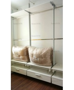 Walk in Closet - I Shape Melamine สีขาวด้าน