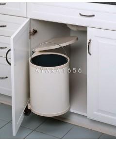 ถังขยะพลาสติกสีขาว รุ่นติดหน้าบานเปิด (TBP-8L-12L)