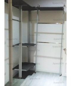 Walk in Closet - I Shape Melamine สี Metal Graphite Pearl