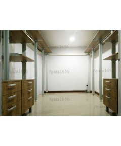 Walk in Closet - I Shape Melamine สี Banyan
