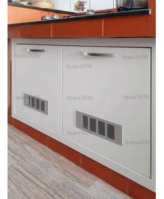 ตู้ลิ้นชัก  โครงซีเมนต์บอร์ด หน้าบาน Melamine สีขาวด้าน