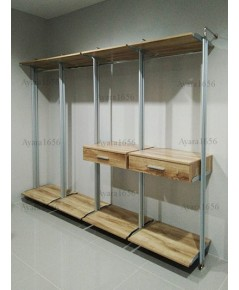 Walk in Closet - I Shape Melamine สี Pine