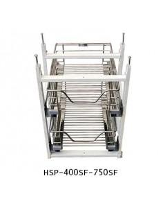 ตะแกรงอเนกประสงค์ สแตนเลส ใส่ของ พร้อมกรอบเฟรมเหล็ก หน้าบานดึง 40, 75 ซม. (HSP-400SF-750SF)