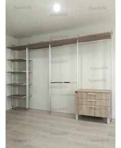 Walk in Closet - I Shape Melamine สี Pastel Oak ลายไม้