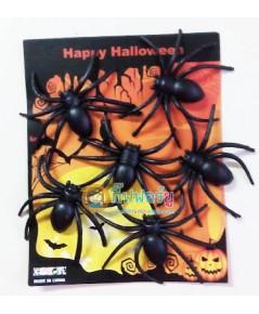 1 ถุง 8 ตัว แมงมุมปลอม แมงมุมพลาสติก ของเล่นตลก ของเล่นแกล้งคน อุปกรณ์ตกแต่ง ปาร์ตี้ ฮาโลวีน