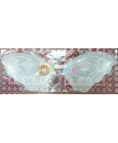 1 อัน สีขาว ปีกผีเสื้อ ปีกนางฟ้า ปีกเทวดา ปีกเด็ก ผ้าใยบัว สำหรับเด็ก ขนาด 23x58 ซ.ม.