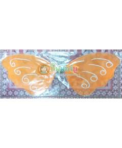 1 อัน สีส้ม ปีกผีเสื้อ ปีกนางฟ้า ปีกเทวดา ปีกเด็ก ผ้าใยบัว สำหรับเด็ก ขนาด 23x58 ซ.ม.