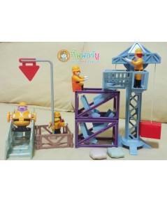 ของเล่น McDonald 2000 ชุด Mc Work Co ทีมช่างสร้างเมืองแมค (ครบเช็ต)