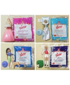 ของเล่น McDonald 1999 ชุด Barbie (4 ตัว)