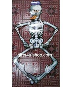 1 ตัว หุ่นกระดาษ หุ่นโครงกระดูก หุ่นผี ของตกแต่งฮาโลวีน Puppet Halloween Decorate
