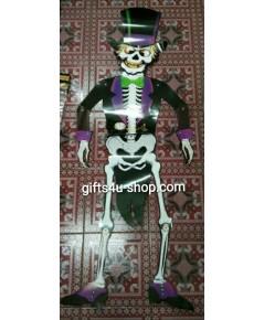 1 ตัว ลายชุดทักซิโด้ หุ่นกระดาษ หุ่นโครงกระดูก หุ่นผี ของตกแต่งฮาโลวีน Puppet Halloween Decorate